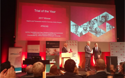 ATACAS CLINICAL TRIAL NAMED WINNER OF THE 2017 ACTA TRIAL OF THE YEAR